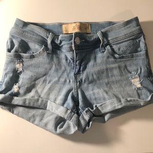 Light Wash Hollister Jean Shorts
